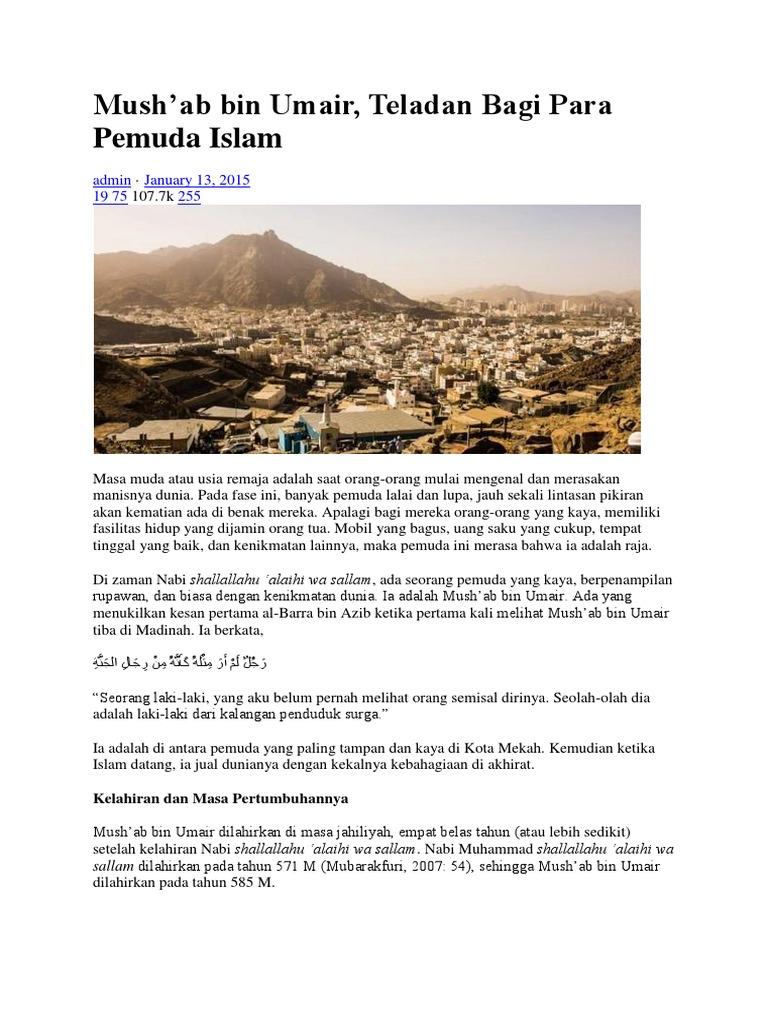 Kisah Mushab Bin Ummair