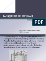 Tabiqueria de Drywall