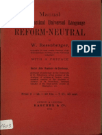 Manual of the Practical Universal Language Reform-Neutral (W. Rosenberger 1912)