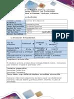 Guía de Actividades y Rúbrica de Evaluación - Escenario 2. Identificar Competencias Que Lograran Estudiantes-roles Del Docente y Estudiante en AVA