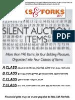 Folks & Forks 2017 Silent Auction Program Insert