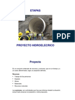 Etapas Proyecto Hidroeléctrico