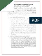 10 Propuestas Para Las Municipalidad