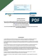 Acuerdo 256 de 2014 Consejo Facultad de Medicina
