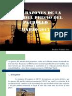Cinco Razones de La Caída Del Precio del Petróleo