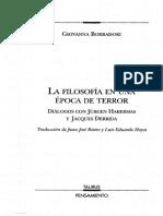 Borradori Giovanna - La Filosofia en Una Epoca de Terror
