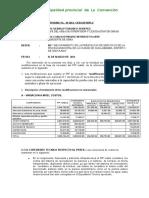 Informe de Preliquidacion Piscina Municipal