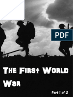 First World War Part 1 Study Guide