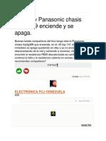 Alla de Tv Panasonic Chasis Tnp4g389 Enciende y Se Apaga