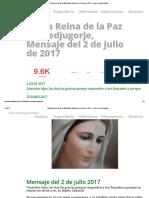 María Reina de la Paz de Medjugorje, Mensaje del 2 de julio de 2017 » Foros de la Virgen María.pdf