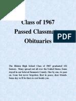 Class of 1967 Obituaries - 09-16-17