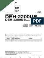 DEH-2200UB, 2250UB (CRT4478)