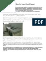 Tips Cara Memilih Material Granit Untuk Lantai