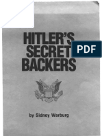 Hitlers Secret Backers Sydney Warburg 1983 95pgs POL.sml