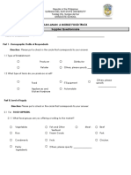 Supplier Questionnaire PDF