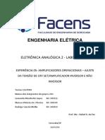 Relatório 5 - Amplificadores Operacionais Final