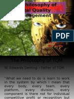 The Philosophy of TQM