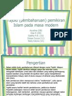 Tajdid (Pembaharuan) Pemikiran Islam Pada Masa