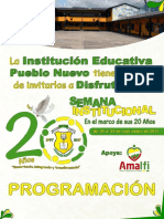 Programación Semana Institucional I.E.P.N. 20 Años - 2017
