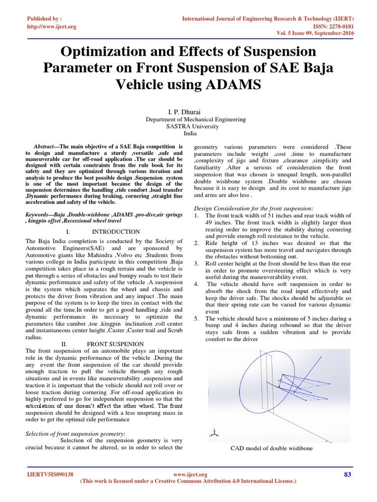 Design of an SAE Baja Racing Off-Road Vehicle Powertrain