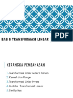Alin 08 Transformasi Linear (Pertemuan 26-29)
