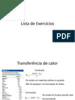 Lista de Exercícios Cap 1 e 2