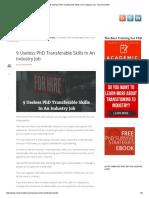 9 Useless PhD Transferable Skills in an Industry Job - Next Scientist