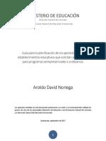 Guía para la planificación de los aprendizajes