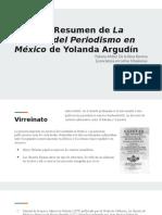 Resumen de la Historia del Periodismo en México