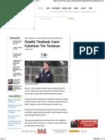 Pelatih Thailand Kami Kalahkan Tim Terbesar - Bola.net