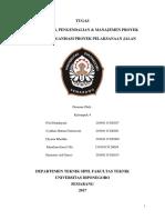 Struktur Organisasi Proyek Pelaksanaan Jalan Kel. 4