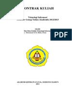Kontrak TI Genap 2012-2013