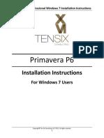 Primavera P6 Professional Windows 7 Installation Instructions
