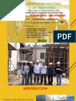 Informe Albañilería y Encofrados
