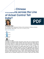 What Do Chinese Intrusions Across the Line of Actual Control Tell India