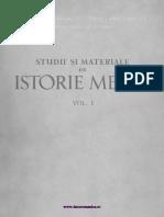 Studii Şi Materiale de Istorie Medie. Volumul 01