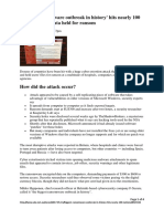ACC539 201760 Assessment 3 Article - Biggest Ransomware Outbreak in History