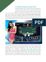 Situs Poker Online Indonesia Bonus 50