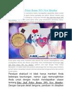Situs Judi Poker Bonus 50