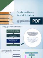 Gambaran Umum Audit Kinerja