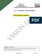 (Economic Development) Investment Models