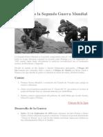 Resumen de La Segunda Guerra Mundial