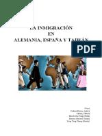 Movimientos migratorios en Alemania, España y Taiwán