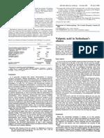 Valproic Acid in Sydenham's Chorea