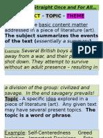 subject topic theme