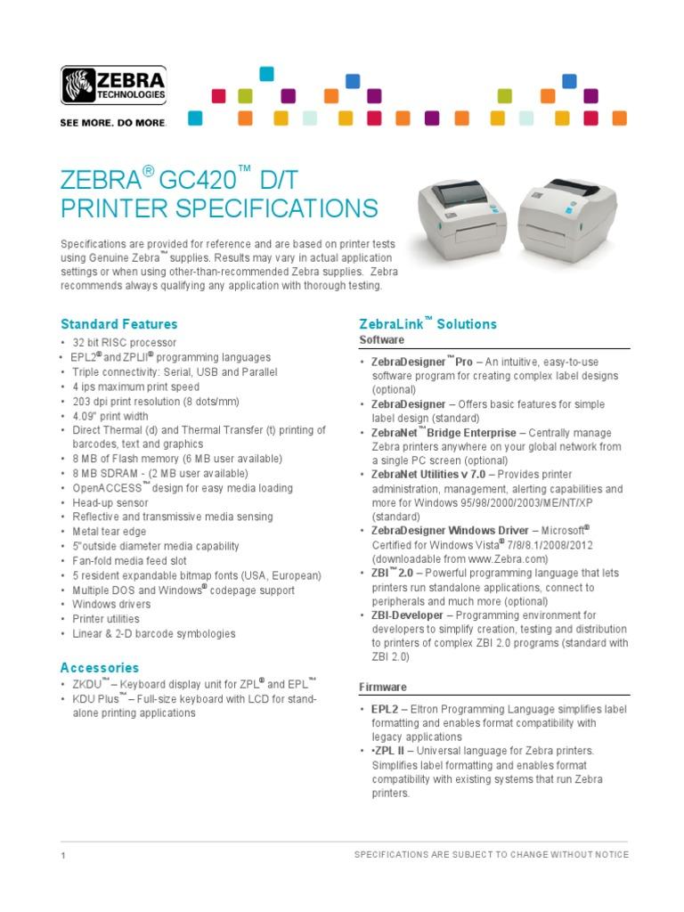 Gc20d t Tech Specs | Universal Product Code | Microsoft Windows