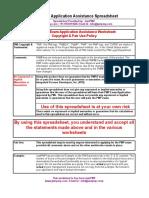 PMP Application Spreadsheet