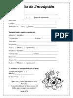 Ficha de Inscripcion modelo