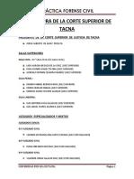 Estructura de La Corte Superior de Tacna Original 1