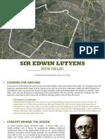 Lutyens New Delhi Urban Study